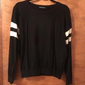 Brandy Melville Black Sweater White Stripes